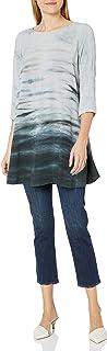 Michael Stars Women's Haze Print 3/4 Sleeve Swing Dress