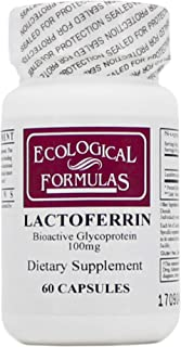Lactoferrin 100mg 60 Capsules - 3 Pack - Ecological Formulas/Cardiovascular Research