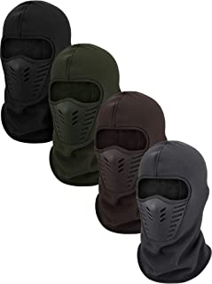 4 Pieces Winter Balaclava Full Face Covering Windproof Ski Headwear Motorcycle Hood for Cycling Outdoor Sports Cold Weathe...
