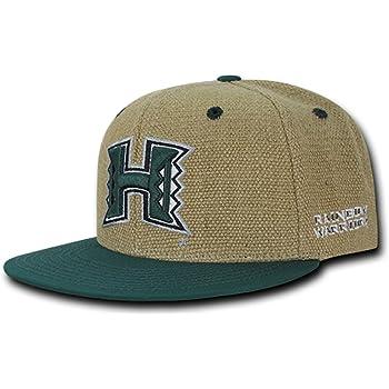 University of Hawaii Rainbow Warriors NCAA Fitted Flat Bill Baseball Cap Hat
