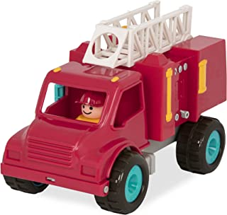 Battat Fire Engine Truck with Working Movable Parts and 2 Firefighters Figurines - Toy Trucks for Toddlers 18m+