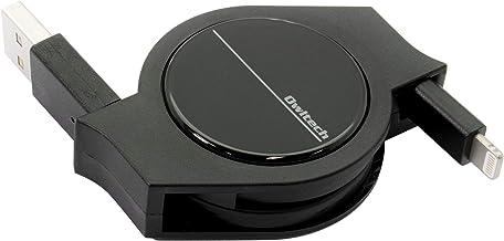 オウルテック 超タフシリーズ 巻取りライトニングケーブル Apple認証 iPhone/iPad 用 2年保証 120cm ブラック AO-CBRKLT12-BK