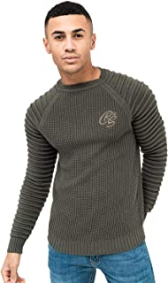 Crosshatch Mens Knitted Jumper Sweater Pullover Top Ribbed NETHERBIE Winter New