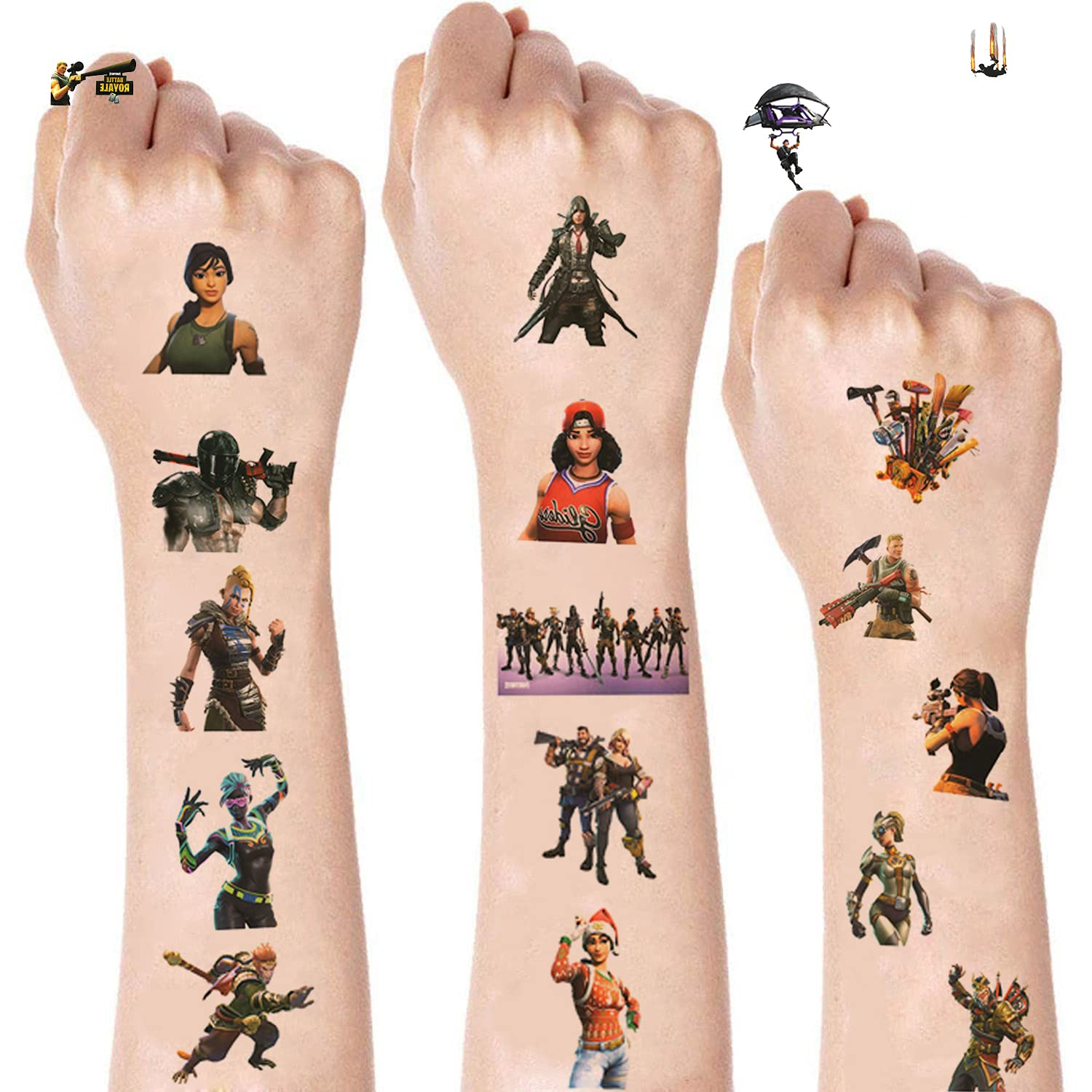 26. Fortnite Battle Royale Temporary Tattoos for Party