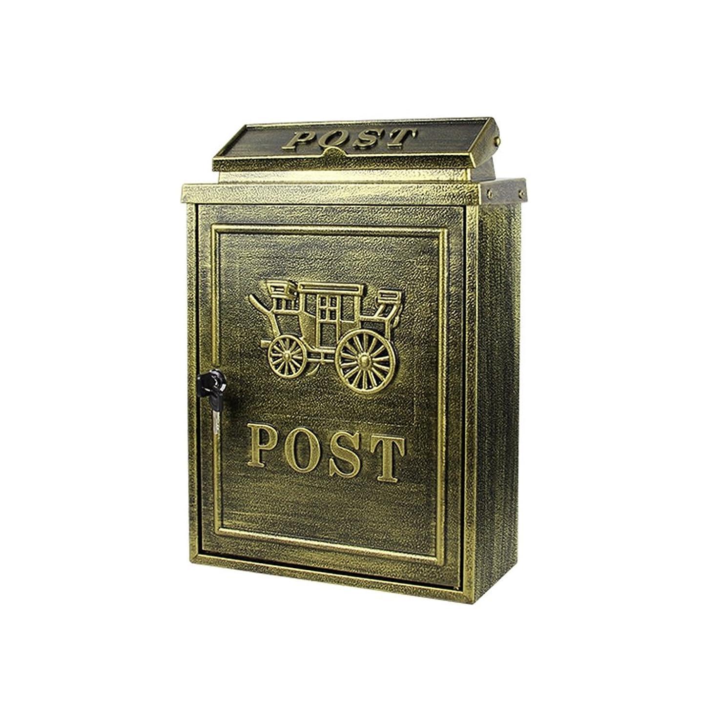 商標かろうじて登録する多機能メールボックス ヨーロッパのレターボックス屋外防水創造的なヴィラの壁掛けの郵便箱