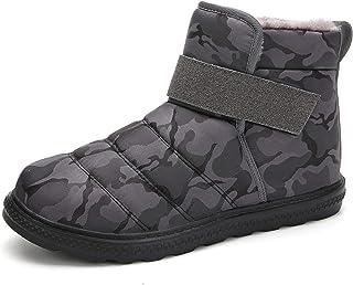 XSWL Bottes Neige pour Femmes, Hiver Garder au Chaud Chaussures Coton en Peluche Grande Taille Camouflage ImperméAble Bott...