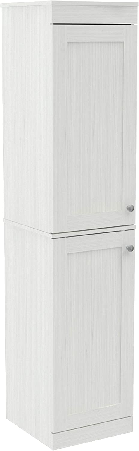 Inval Max 74% OFF New popularity Shaker Style Buffet 2-Door Washed Oak Slim Cabinet