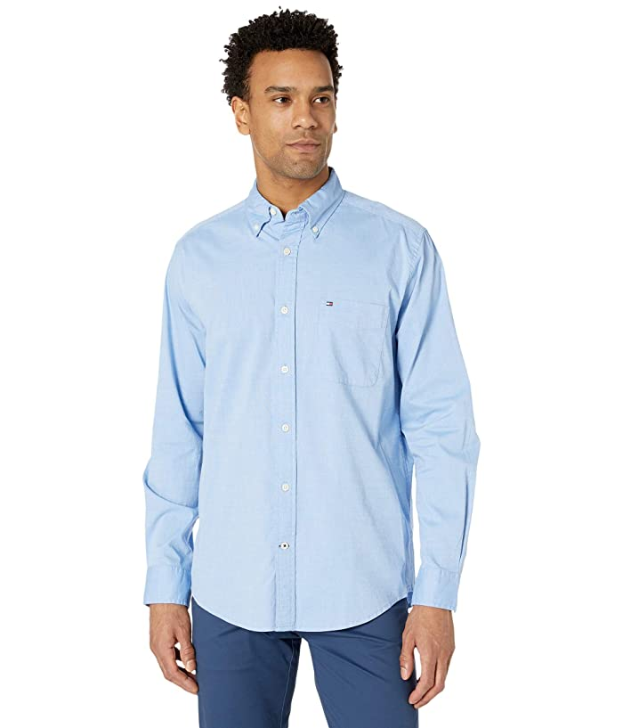 Tommy Hilfiger  Capote Stretch Shirt Long Sleeve (Collection Blue) Mens Clothing