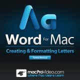 Letters Course in Word for Mac By macProVideo