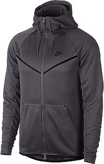 Mens Tech Icon Pack Full Zip Windrunner Hoodie Dark Grey/Black AQ0823-021 Size X-Large