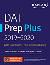 DAT Prep Plus 2019-2020: 2 Practice Tests + Proven Strategies + Online (Kaplan Test Prep)