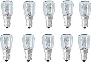 10 bombitas para lámparas de sal del Himalaya, para heladera, horno, microondas, máquina de coser, de 15w, rosca e14 en formato de bombitas pigmeas