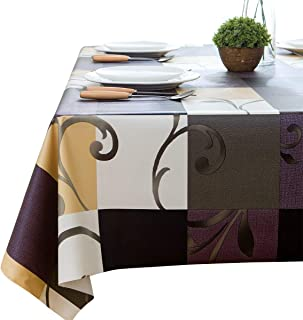 LEEVAN Heavy Weight Vinyl Rectangle Table Cover PVC Tablecloth Oil-proof/Waterproof Mildew-proof - 54 x 108 Inch (Stylish Plaid)