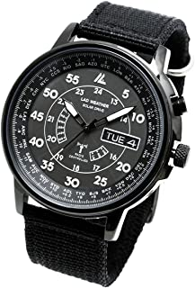 Lad Weather Radio Controlled Watch Solar Powered Perpetual Day Date Calendar Multi Timezone Military Business Travel