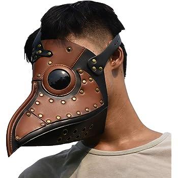 ペストマスク コスチューム コスプレ ハロウィン 仮装 仮面 お面 ペストマスク (ブラウン)