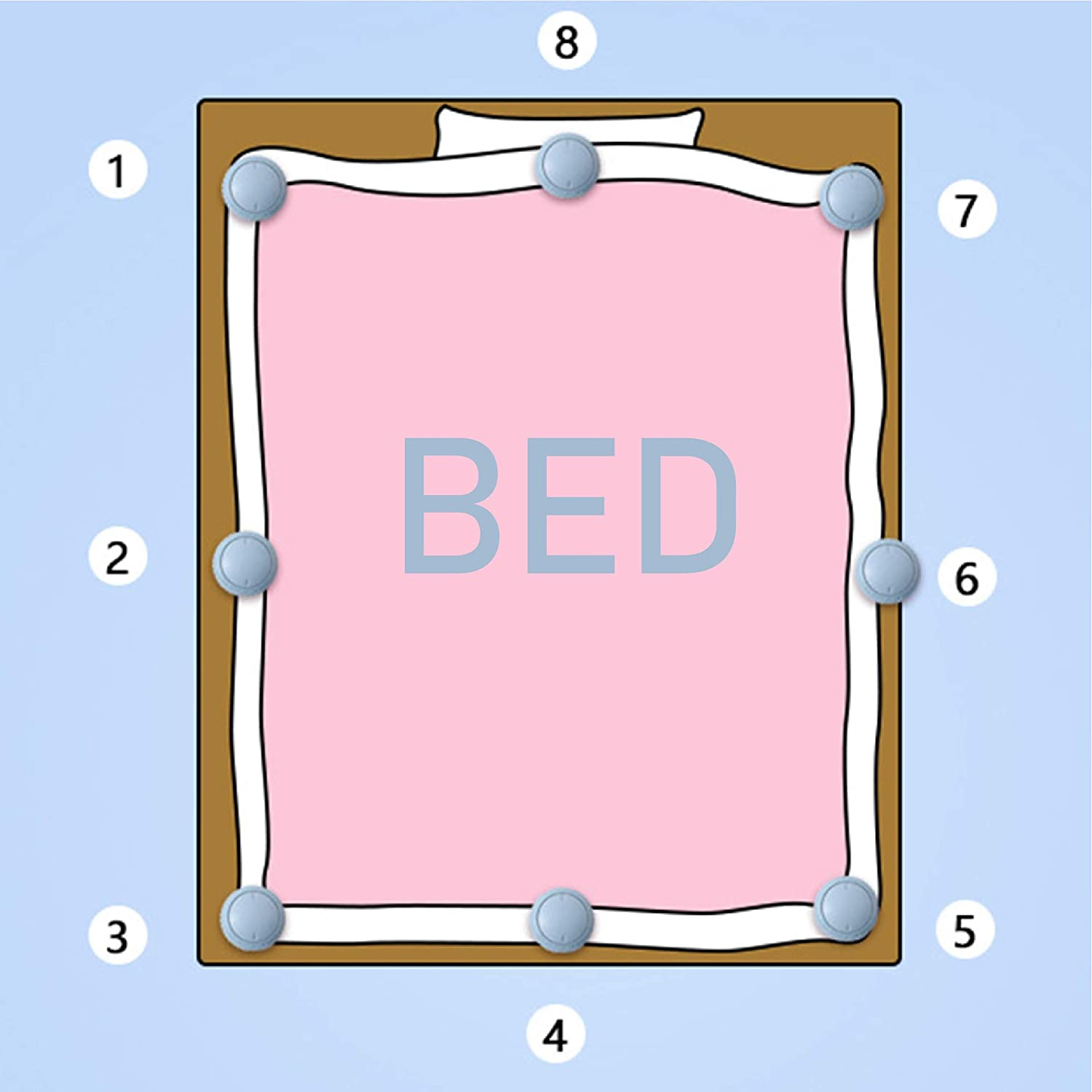 None/Brand Duvet Clips 8 Pcs with 16 Duvet Pins Prevent Comforter from Shifting in Cover Quilt Anti-Movement ABS Clips Bed Sheet Fasteners Keep Corner in Place Child Safety Bedding Accessories Pink