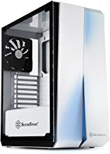 SilverStone Technology ATX Computer Case with Full Tempered-Glass Side Panel in White with Blue LEDs SST-RL07W-G