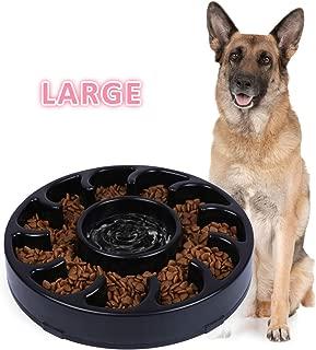 JASGOOD Slow Dog Bowl for Large Dogs,Fun Feeder Dog Bowl,Anti-Gulping Dog Slow Feeder Stop Bloat,Slow Eating Big Pet Bowl