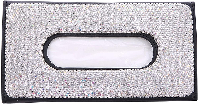2021new shipping free shipping Qikafan 2 Pieces 5 ☆ very popular Car Crystal Shiny Napkin Holder Rhinestone