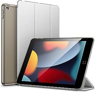 ESR iPad 第9/8/7世代 (2021, 2020, 2019) ケース オートスリープ/ウェイク機能対応 半透明 薄型 軽量 傷防止 ハードカバー 三つ折りスタンド グレー