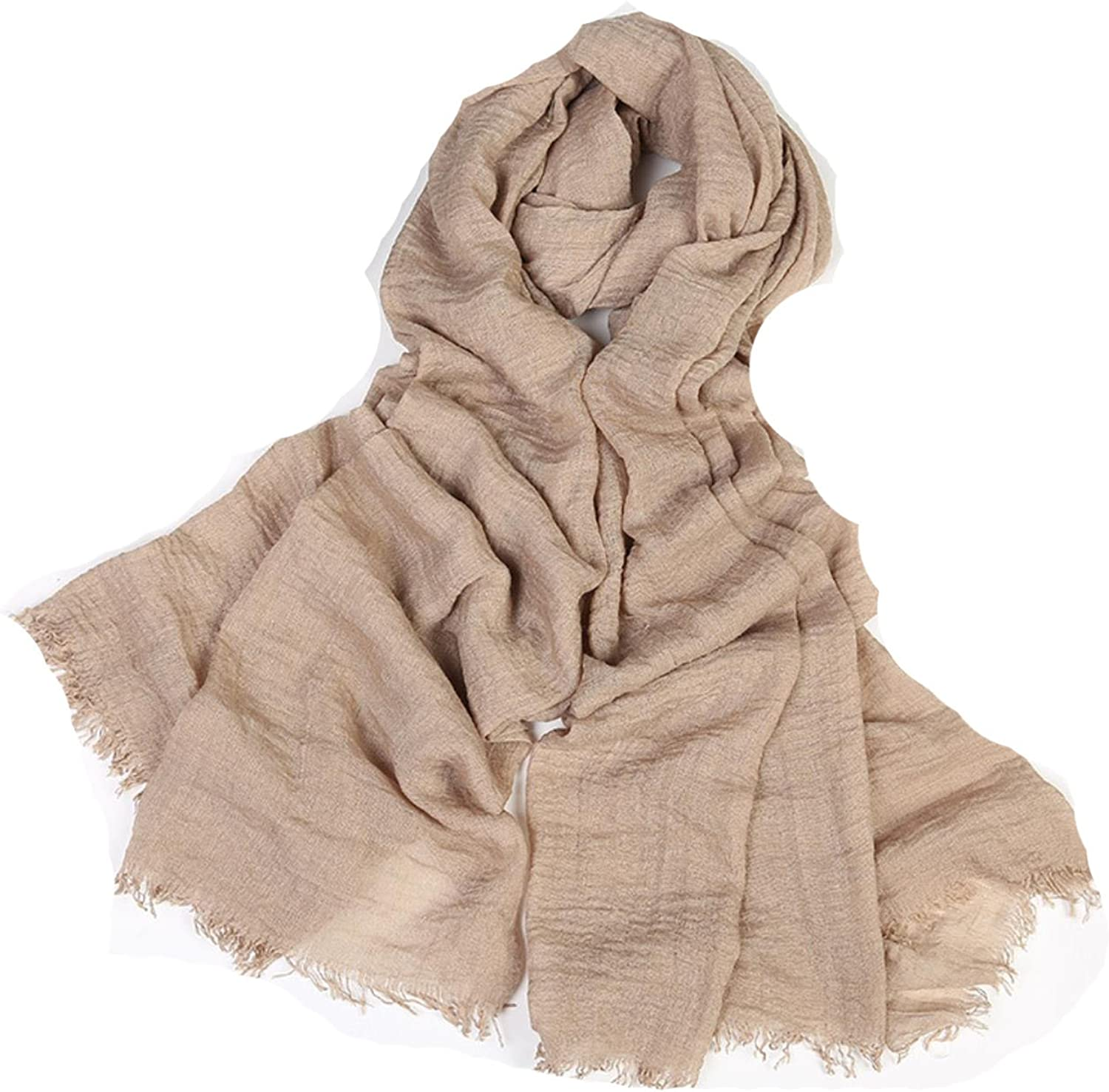 Twill cotton scarf stone print muslim hijab with tassels pashmina shawls Pure sunscreen scarves beach towel sp