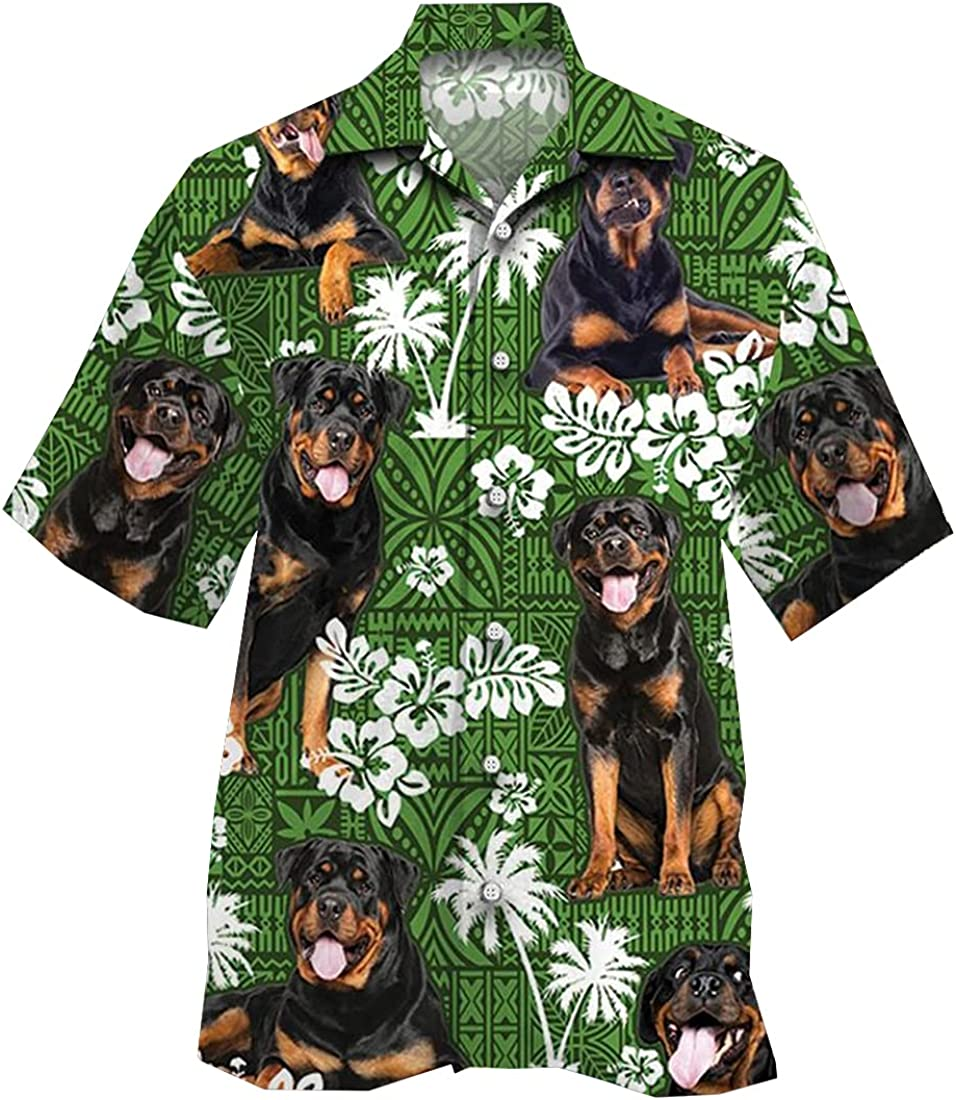 Pattern Hawaiian Shirts for Men Women - Animal Button Down Mens Hawaiian Shirts Short Sleeve Set 102