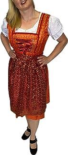 Trendofindia Dirndlfreund Trachtenkleid Sari Dirndl - Midi Set für Oktoberfest, besteht aus 3 Teilen: Kleid Bluse Schürze 10 Modelle