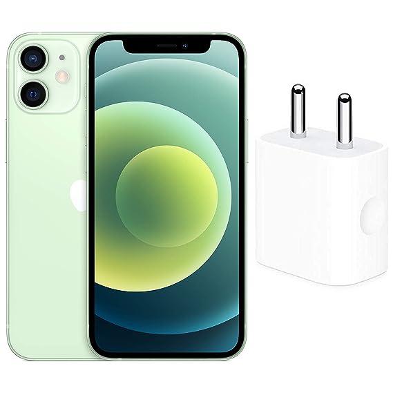 New Apple iPhone 12 Mini (64GB) - Green with Apple 20W USB-C Power Adapter