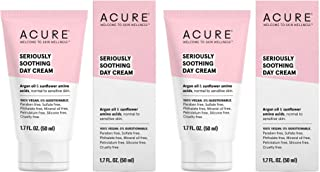 Acure Organics Seriously Soothing Day Cream (Pack of 2) With Argan Oil and Sunflower Amino Acids, For Normal to Sensitive Skin, Includes Coconut, Acai, Rosehip, Chamomile and Rooibos, 1.7 fl. oz.