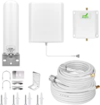 Mingcoll Cell Phone Signal Booster 1700MHz Band 4 3G 4G Cell Phone Booster Cell Signal Repeater for T-Mobile Metro PCS AWS AT&T Mobile Signal Booster Cell Phone Signal Amplifier for Home