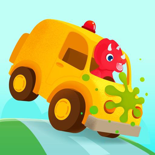 Dinosaur Car - Racing Simulator Games for Kids