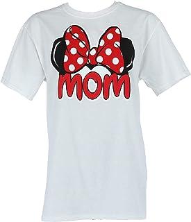 Disney Adult Plus Size Womens T-Shirt Mom Family Tee White