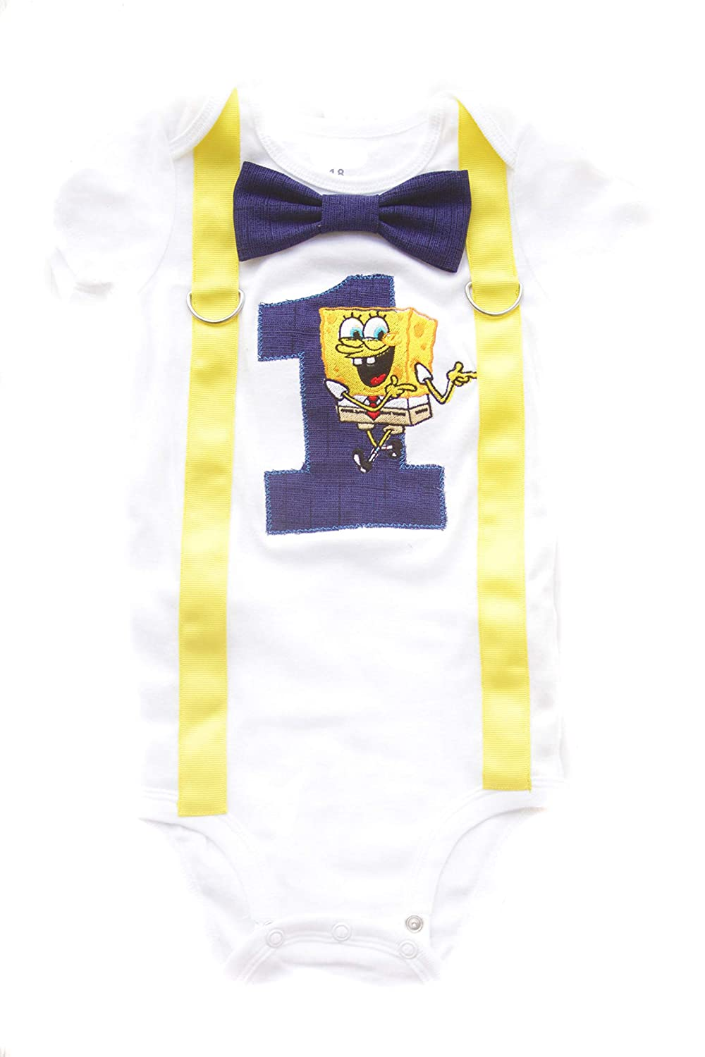 Max 50% OFF Baby At the price of surprise Boy First birthday Cake Outfit- Smash Spongebob pan square