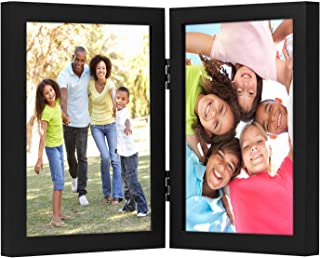 Americanflat 8x10 Hinged Picture Frame with Glass Front - Display 2 8x10 Pictures - Stand Vertically on Desktop or Tabletop
