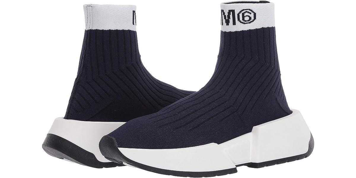 MM6 Maison Margiela Contrast Logo Sock Sneaker | The Style ...