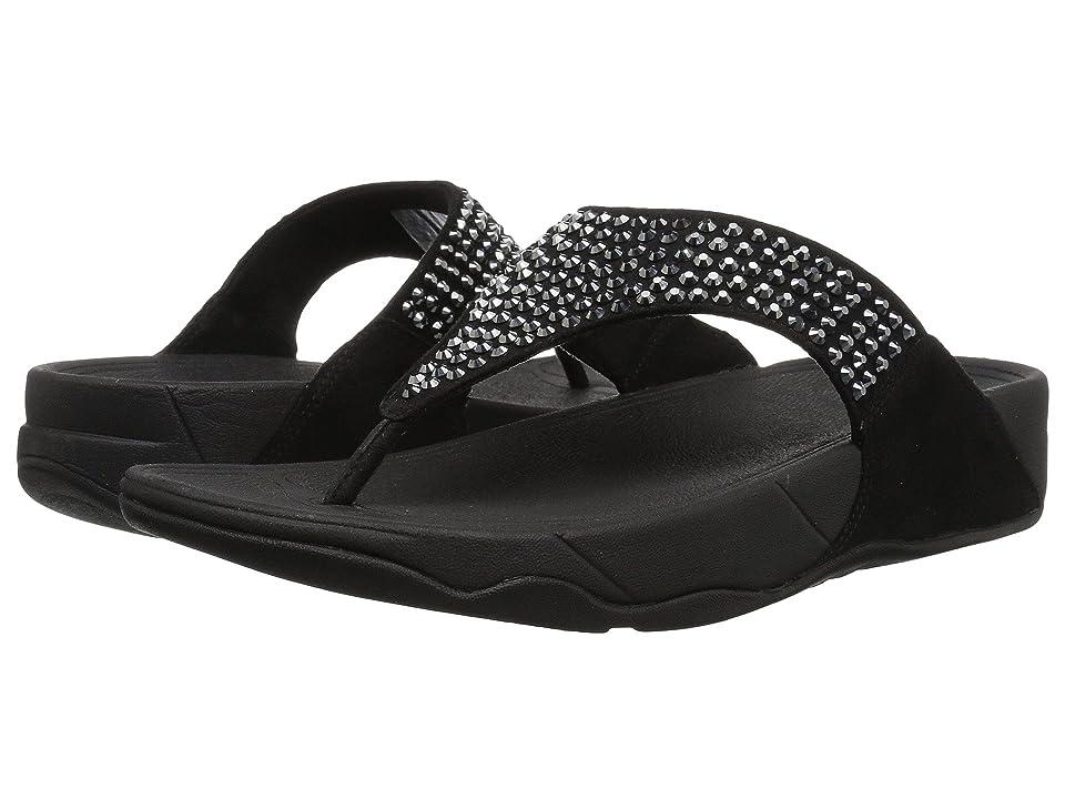 FitFlop Glitzie Toe-Thong Sandals (Black) Women