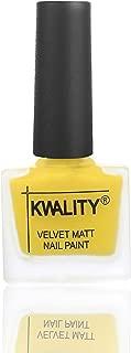 Kwality Valvet Matte Nail Polish | Party Shades | Unique Color -Yellow
