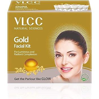 VLCC Gold Facial Kit, 60g With White & Bright Glow Gel Creme, 20g