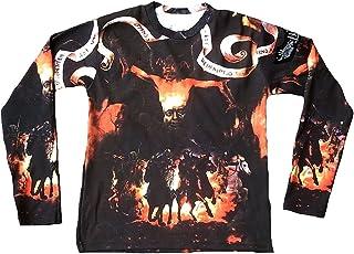 In Nomine Patre Herren Langarm T-Shirt Schwarz Gelb Teufel D