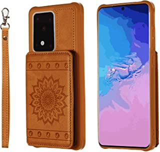 PU Leather Flip Cover Compatible with Samsung Galaxy S10e, brown Wallet Case for Samsung Galaxy S10e