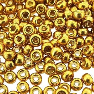 Miyuki 6/0 Gold 20 Grams Miyuki Round Rocailles 6/0 Seed Bead Duracoat Galvanized Approx 20 Gram Tube