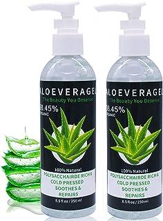 J TOHLO 2pcs Aloe Vera Gel -Puro Gel Calmante 100% Natural Para la Cara Crema idratante naturale calmante e nutriente Cabe...