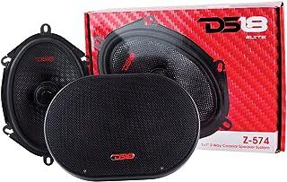 "DS18 Elite Z-574 Pair of 5""x7"" 2-Way Coaxial Speakers with Neodymium Tweeters - 4 Ohms - 90 Watts RMS - 150 Watts Max"