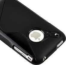 Generic Black Rubber TPU GEL Hard Case Skin Cover for Apple Iphone 3g 3gs 8gb 16gb