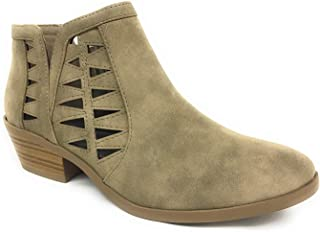Chance Women's Closed Toe Multi Strap Ankle Bootie