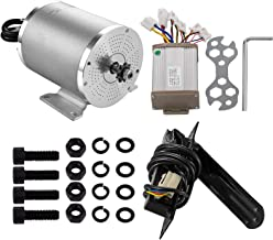 Mophorn Electric Brushless Motor 48V DC 1800 Watt with Controller & Pedal 9 Tooth 8 Chain Sprocket and Mounting Bracket for Go Karts Scooters & E-Bike