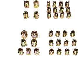 """5//16/"""" Fuel Line 50 Inch OE Zinc Steel 1//2-20 Tube Nuts 45 Degree Double Flare"""