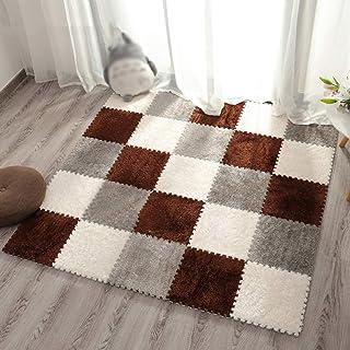 MAHFEI Foam Interlocking Floor Mats Suede Crawling Mat Fitness Mat Living Room Soft Skin-friendly Easy Care Blended, 7 Col...