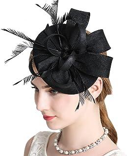 FAYBOX BRIDAL Women's Elegant Fascinator Hat Bridal Hair Clip Accessories Cocktail Royal Ascot