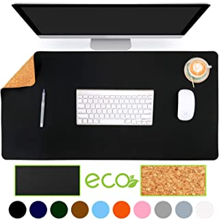 Aothia Eco-Friendly Natural Cork & Leather Double-Sided Office Desk Mat & Mate 31.5